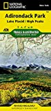Adirondack Park: Lake Placid/High Peaks, New York, USA Outdoor Recreation Map