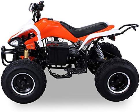 Ni/ños el/éctrico Quad S de 14Speedy 1000W Miniquad met/álico naranja//blanco
