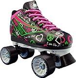 Pacer Heart Throb Roller Skates (Black, Size 10)