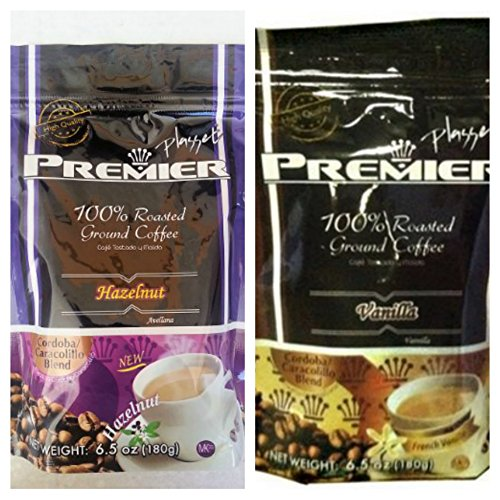 Premium Flavored Favorite Coffee Bundle- 2 Items: Roasted Ground Hazelnut Coffee (6.5 oz) & Vanilla Flavored Coffee (6.5 oz) Roasted Coffee I All Purpose Grind for All Coffee Makers