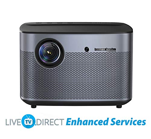 Home Theater Projector, XGIMI H2 Home Projector Native 1080p HD Projector Android 3D Smart TV Video Movie Projector with LiveTV.Direct Enhanced Services