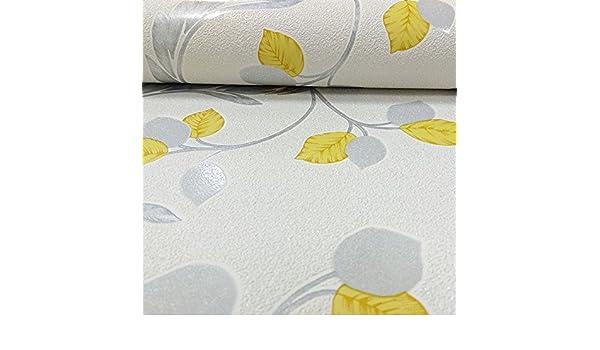 Erismann Brillante Patrón Floral con Hojas Papel Pintado con Purpurina Hojas