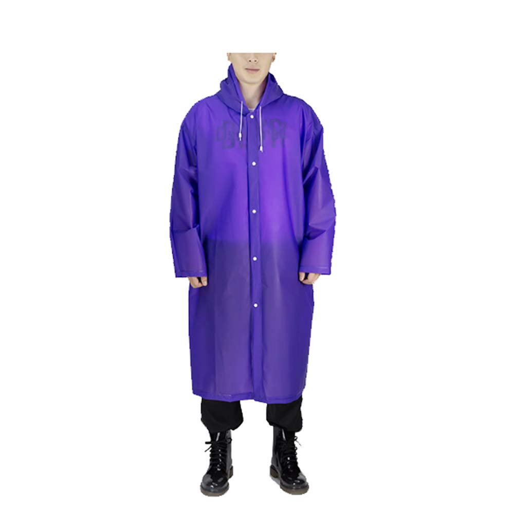 WEIFAN-raincoat Thick Disposable Poncho for Adult- 100 Pack Emergency Waterproof Ponchos - Rain Gear for Outdoor Recreation,Festivals,Camping,Hiking(Purple)