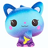 Stress Reliever Toys, Sacow 15 cm Squishy Colourful Galaxy Cat Slow Rising Scented Toys Cute Animal Vent Toys (A)