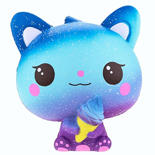 Stress Reliever Toys, Sacow 15 cm Squishy Colourful Galaxy Cat Slow Rising Scented Toys Cute Animal Vent Toys (A) by Sacow