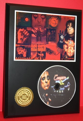 Alice Cooper Limited Edition Picture Disc CD Rare Collectible Music Display Gold Record Outlet