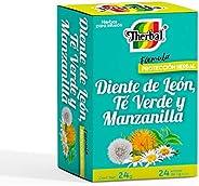 Therbal Infusion, 24 Sobres, Manzanilla, Te Verde y Diente de Leon