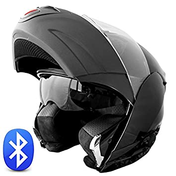 Burnout - Casco integral para moto (Bluetooth, visera deslizable, talla M 53-