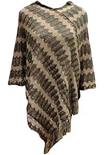 4b22e688a9 Peacock Design Womens Chiffon Scarf - In Brown: Amazon.co.uk: Clothing