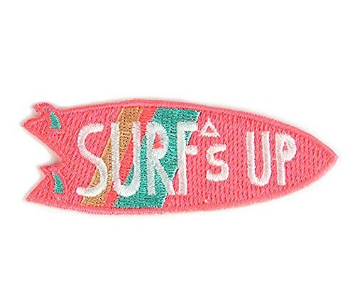 Surf's Up Summer Embroidered Sew or Iron-on Backing Patch Summer Patch Cap