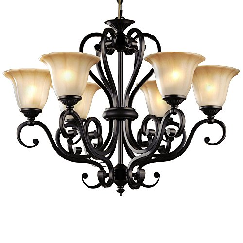 Black wrought iron chandelier amazon lnc 6 light chandelier lighting traditional chandeliers antique black iron pendant lighting aloadofball Images