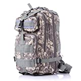 3P Outdoor Tactical Backpack 20-35L Military bag Army Trekking Sport Travel Rucksack Camping Hiking Trekking Camouflage Bag (Lavender mosaic)