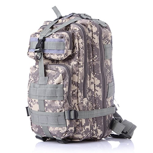 3P Outdoor Tactical Backpack 20-35L Military bag Army Trekking Sport Travel Rucksack Camping Hiking Trekking Camouflage Bag (Lavender mosaic) by Unknown (Image #4)