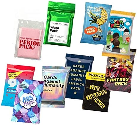 Cards Against Humanity 10 Paquetes de maleza y periodo & Pride ...