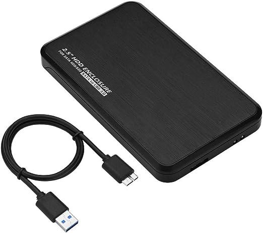 Woyisisi HDD Caja de Unidad de Disco Duro con Caja Externa para Adaptador SATA de 2,5 Pulgadas a USB 3.0 SDD(Negro): Amazon.es: Hogar