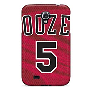 Hot Tpu Cover Case For Galaxy/ S4 Case Cover Skin - Chicago Bulls