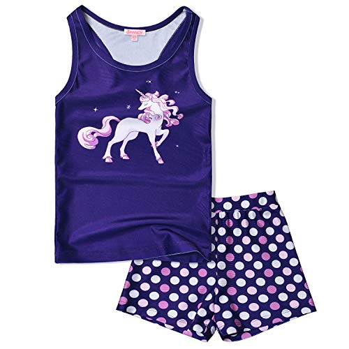 Two Piece Swimsuits for Toddler Girls 3t 4t Polka Dots Unicorn Tankini Swimwear -