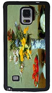 Rikki KnightTM Fantin Latour Art Still Life Design Samsung? Galaxy Note 4 Case Cover (Black with front Bumper Protection) for Samsung Galaxy Note 4