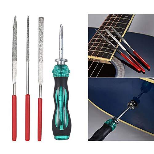 hAohAnwuyg Guitar Repair Tool,Musical Instruments,10Pcs Guitar String Cutter Wrench Files Screwdriver Repair Maintenance Tool Kit - Black