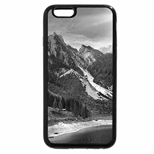 iPhone 6S Case, iPhone 6 Case (Black & White) - Bright sun over the mountain