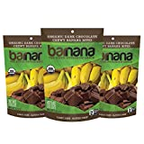 Barnana Organic Chewy Banana Bites, Dark Chocolate, 3.5 Ounce, 3 Count