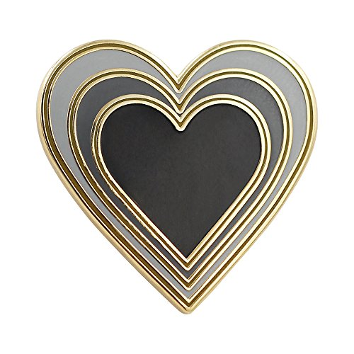 Real Sic Radiant Heart - Enamel Pin for Your Life - Goth Gift for Goth - Heart Black Enamel