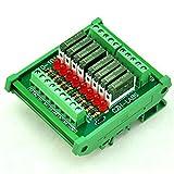 ELECTRONICS-SALON Slim DIN Rail Mount DC5V Source/PNP 8 SPST-NO 5A Power Relay Module, PA1a-5V