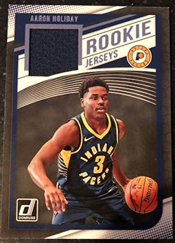 2018-19 Donruss Rookie Jerseys Basketball #19 Aaron Holiday MEM Indiana Pacers Official NBA RC Jersey Card made by Panini from Basketball Cards