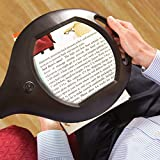 Magnifier Floor lamp with Glass lens!! 5X real power. A Large- 7'' x 7'' magnifier! Great quality item!