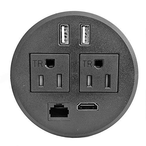 (PWR-Plug Power Grommet for Desk Office Furniture Fits 3.125