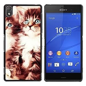 A-type Arte & diseño plástico duro Fundas Cover Cubre Hard Case Cover para Sony Xperia Z3 (Gatitos lindos)