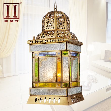Leihongthebox Lights, exotic flowers copper arabian style with Pendant Ceiling Lights and diameter 20cm high 40cm