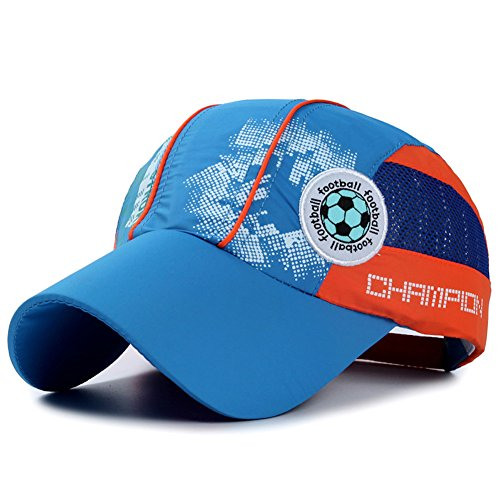 Home Prefer Kids Toddlers Lightweight Sun Hat Cotton Mesh Ball Caps Sun Protection Hats for Outdoor Sports Blue