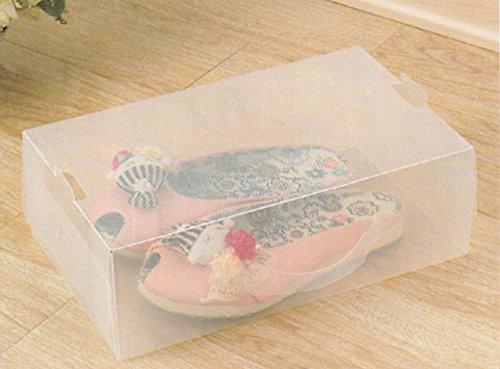 12 Cajas zapateras para dama (super oferta),30x18x10cm,Transparente