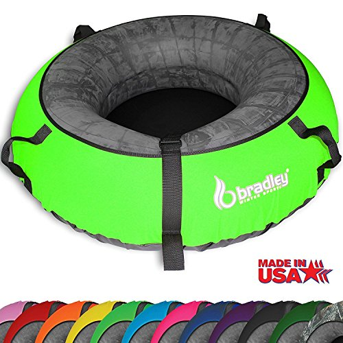 """Bradley Snow Tube Sled with 57"""" Neon Green Cover"""