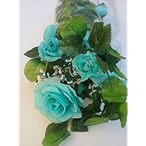 6' Open Rose Garland Artificial Silk Wedding Bridal Flowers Home Decor 9