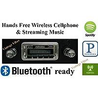 Bluetooth Enabled 1967 GTO, Lemans, Tempest USA-630 II High Power 300 watt AM FM Car Stereo/Radio