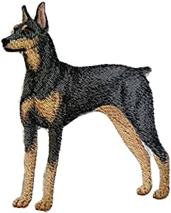 DOBERMAN EMBROIDERED PATCH SEW//IRON ON BRAND NEW~USA SELLER~