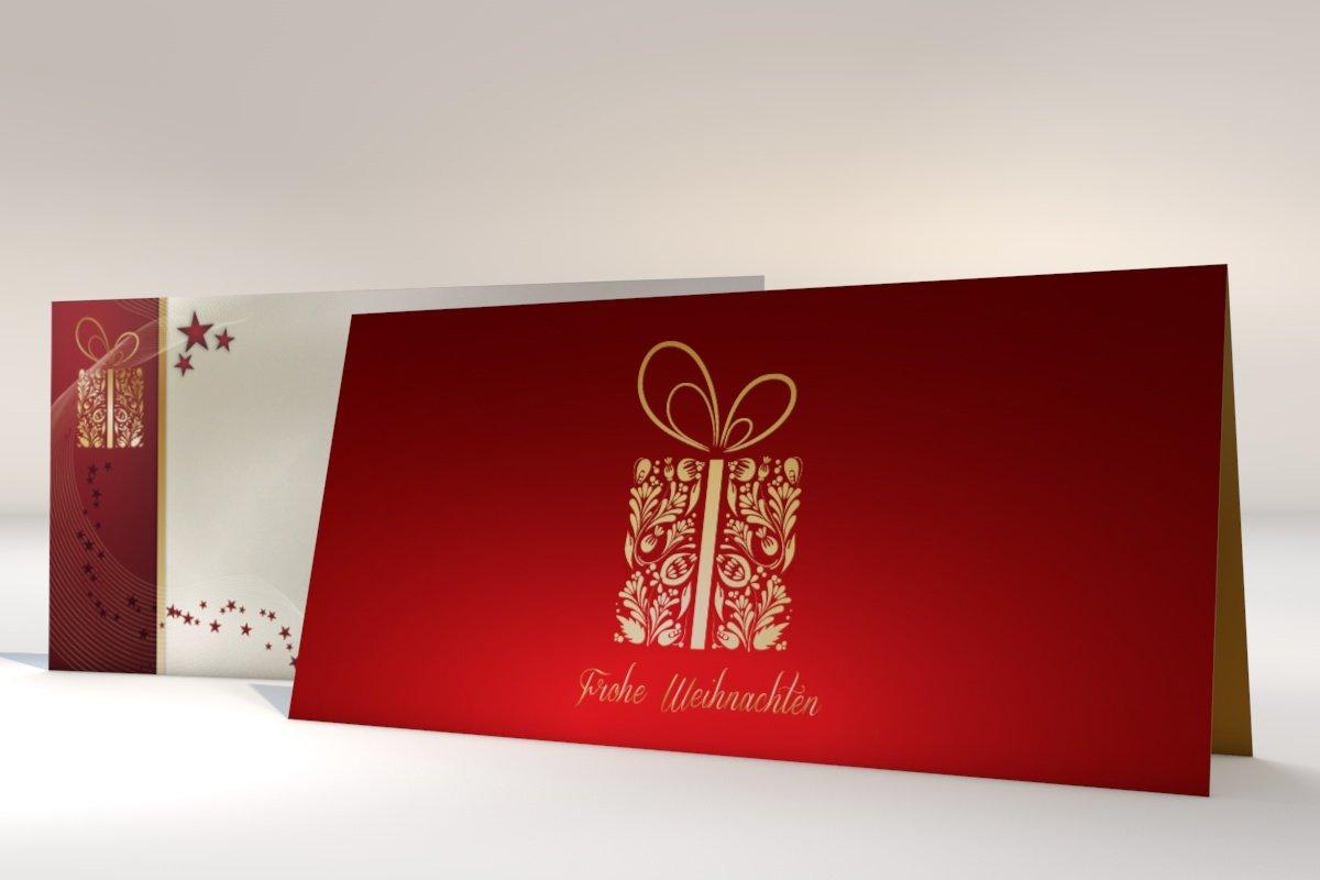 Weihnachtskarten mit Brief-Umschlag, 10er Set Motiv ...