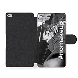 Winston Churchill Selfie Funny Parody No Make Up in Cool Black and White Style Funda Cuero Sintético para iPhone 6 Plus 6S Plus