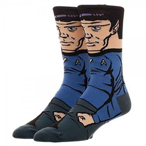 Bioworld Star Trek Spock 360 Crew Sock   Multi   One Size