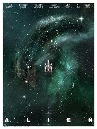 Alien Limited Edition Lithograph'Nostromo' by Andy Fairhurst 18' x 24'