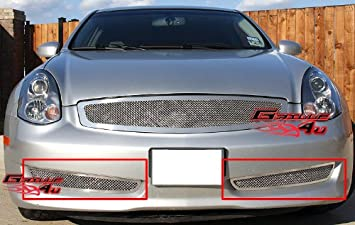 SS 1.8mm Mesh Grille For 06-07 Infiniti G35 Sport Coupe Bumper