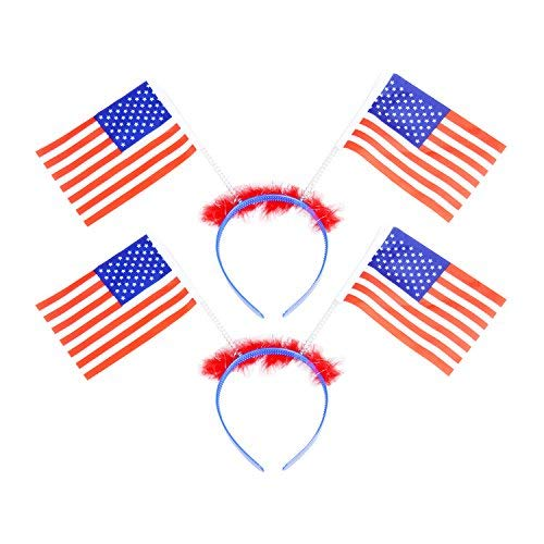 4th of July Headband Headwear Independence Day Party Favors for Fourth of July, Memorial Day, Veterans Day,2pcs ()