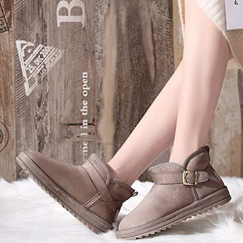Doublure Boot Chameau Hiver Bottes mastery Boucle Suede Neige 3 Chaude H Chaussures De Fourrure Courtes Femme Plates gqOZx1Yw
