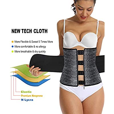 HOPLYNN Neoprene Sweat Waist Trainer Corset Trimmer Belt for Women Weight Loss, Waist Cincher Shaper Slimmer: Clothing