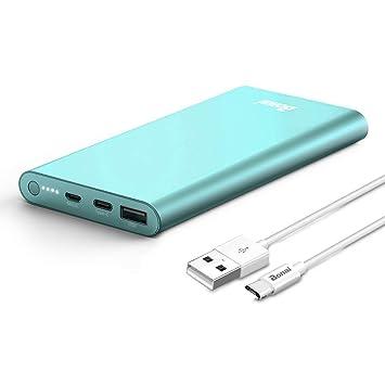BONAI Power Bank 13800mAh, 2 In 1 USB-C Salida/Entrada, Bateria Externa Cargador Móvil Portáti para Smartphone Tablets y más - Negro