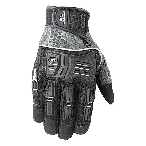 Knuckle Protection (All Purpose Work Gloves, Hi-Dexterity, Touch-Screen Capable, Knuckle Protection, Medium (Wells Lamont 7682M))