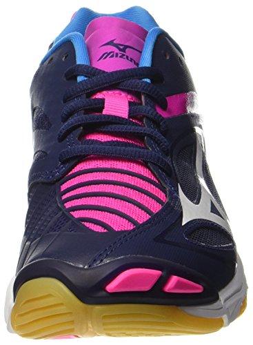 Mizuno Wave Lightning Z3 W, Zapatos de Voleibol para Mujer Multicolor (Peacoat/white/pinkglo)