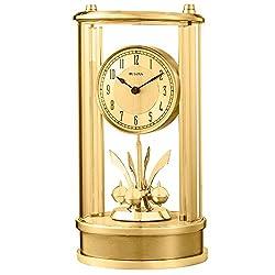 Bulova Clocks Isabel Clock, Polished/Satin Gold Finish